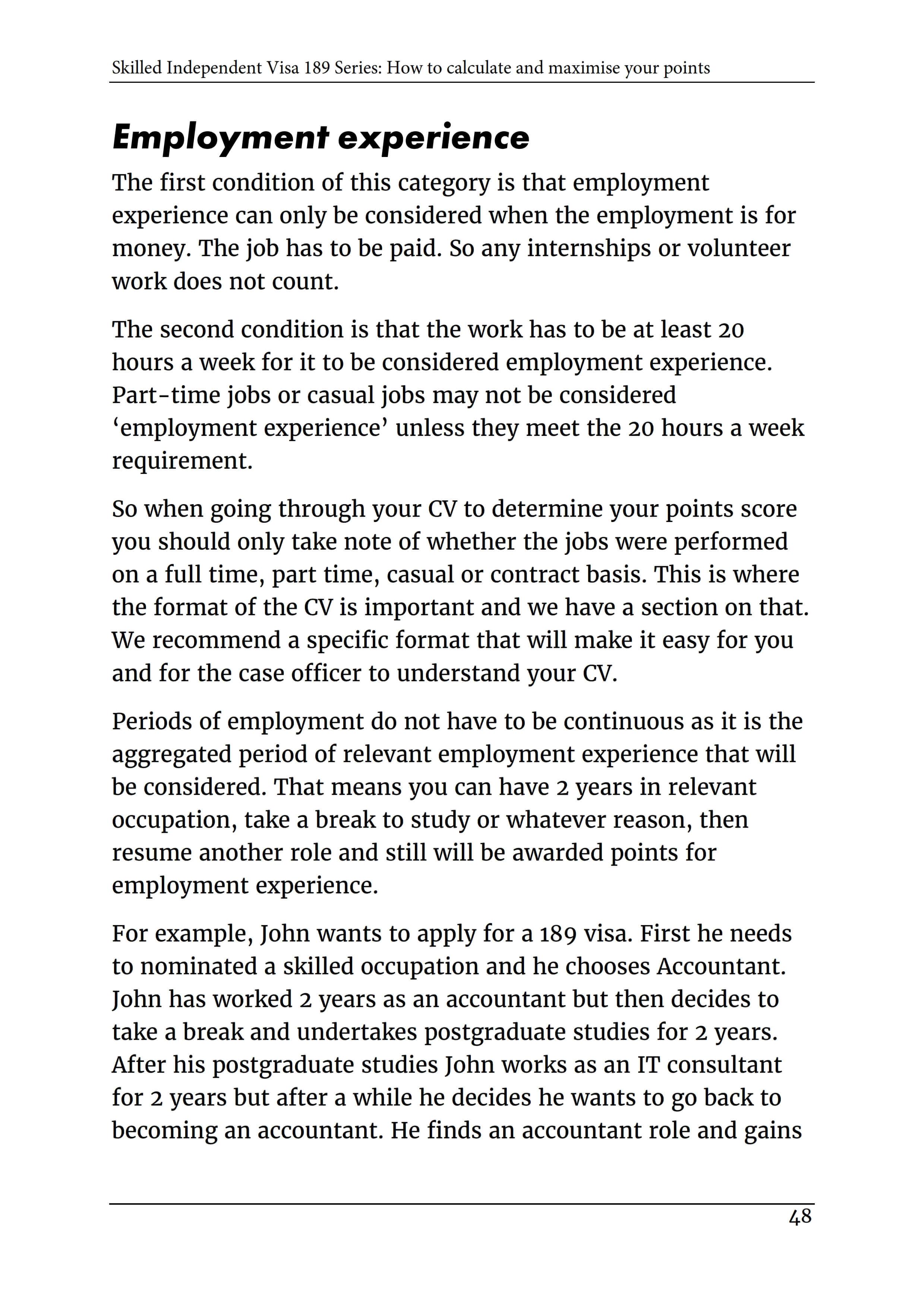 2_Skilled Independent Visa 189 - POINTS TEST [2019]_P49