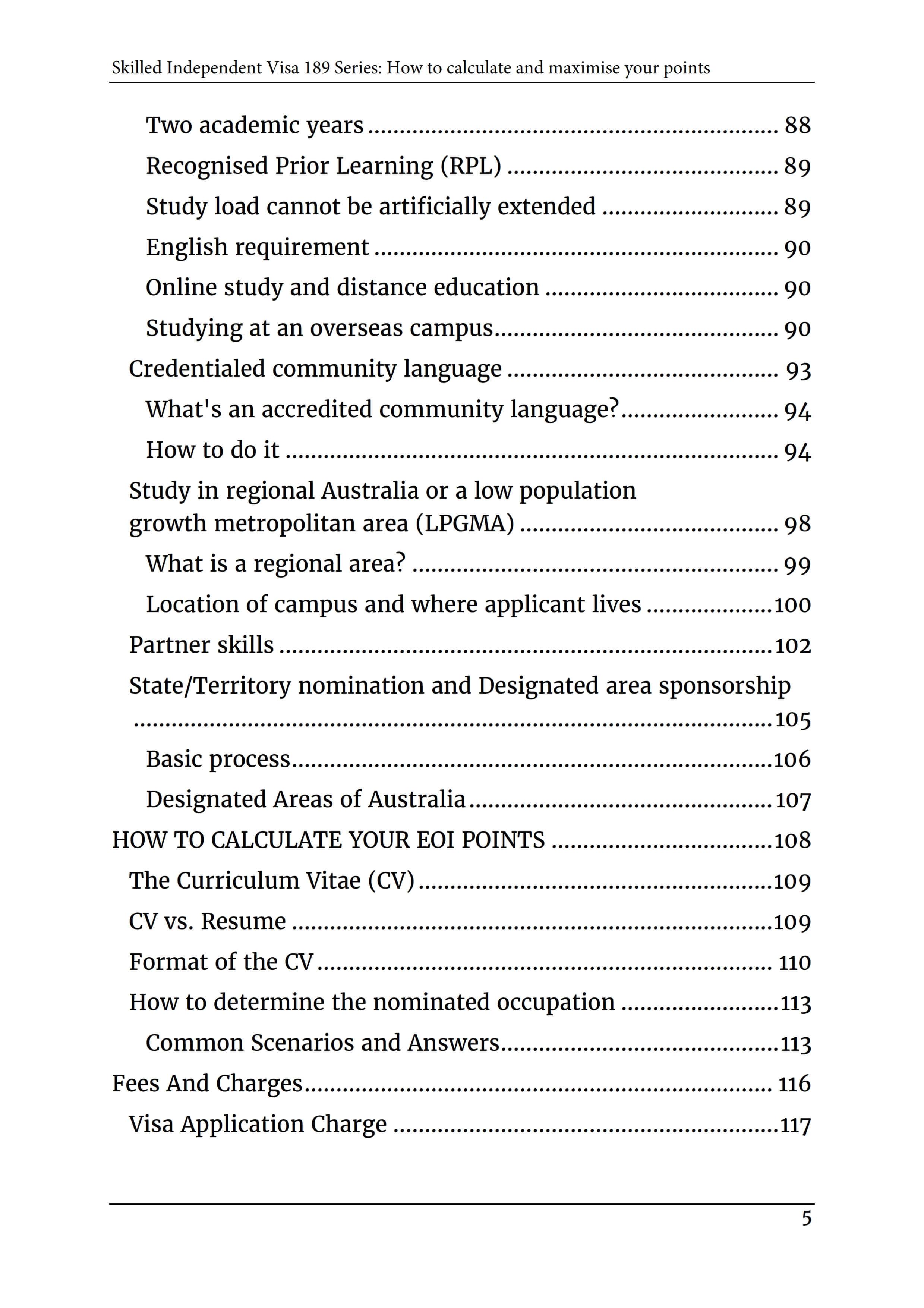 2_Skilled Independent Visa 189 - POINTS TEST [2019]_TOC4